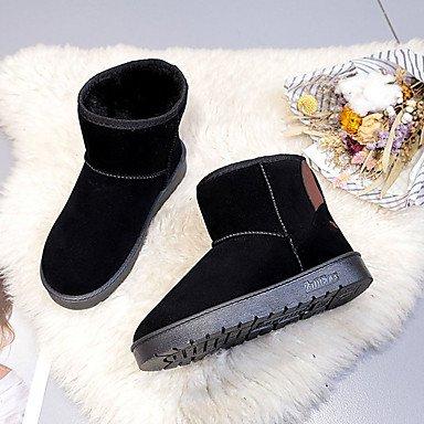 6c88b435b3520 Rtry Femmes Chaussures Nubuck Suede Pu Automne Hiver Confort Mode Bottes  Bottes Talon Plat Ronde Mi