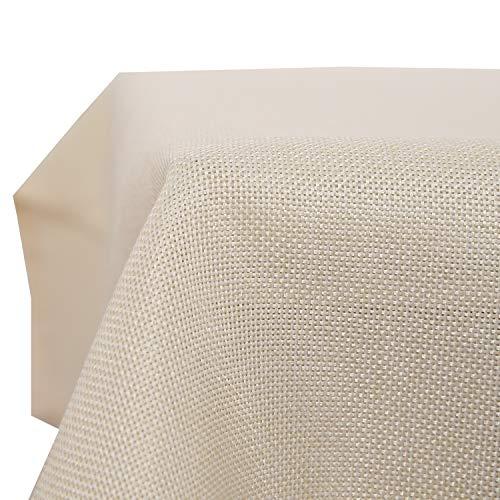 Deconovo tovaglia rettangolare impermeabile in tessuto lino decorazione per salotto 140x250cm beige