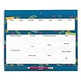Boxclever Press Grande Liste de Courses Magnétique Shopping & Planificateur de Repas. Menu format presque A4 et bloc-notes perforé. Livré avec crayon pratique et poche pour les reçus et les bons