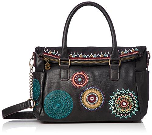 Desigual Bols Siara Loverty Handtasche 32 cm, Negro, Einheitsgröße