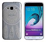 yayago Schutzhülle für Samsung Galaxy J3 2016 Duos Hülle Spring Design Transparent