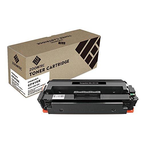 ZOOMTEC Compatibile con HP 410X CF410X Cartuccia Toner compatibile per HP Color Laserjet Pro MFP M477fdn M477fdw M477fnw M452DN M452dw M452nw M377dw -Black