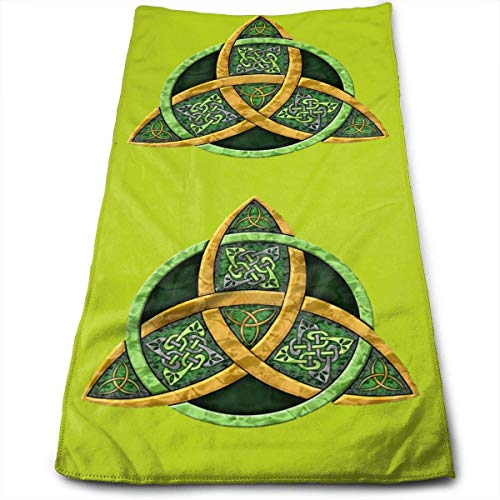 Hipiyoled Cool Celtic Trinity Knot Fade-Resistant Super Absorbent Shower\Beach\Bath Towels Workout,Gym,Fitness,Golf,Yoga,Camping,Hiking,Bowling,Travel,Outdoor Sports Towel