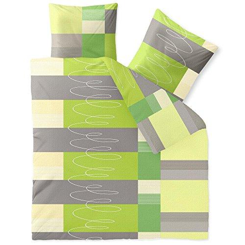 CelinaTex Bettwäsche 3-TLG. 200x220 Bettgarnitur Baumwolle 80x80 Kissenbezug Reißverschluss Enjoy Ellen 0003401