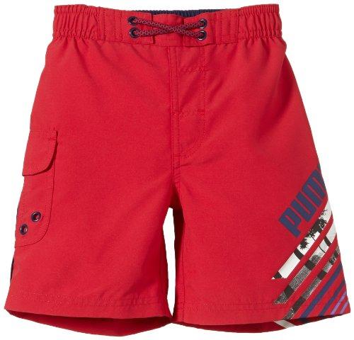PUMA Badeshorts Boys Fun Board - Calzoncillo Deportivo para Hombre, Color Rojo, Talla DE: 104
