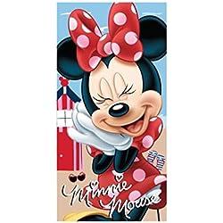Serviette de plage - Drap de Bain - 70x140 cm microfibre - Minnie - Disney