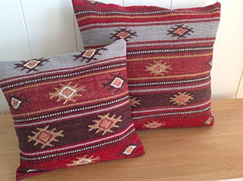 Fair Trade Karsha Kelim Kissenbezug, 45cm-Multi farbigen Streifen -
