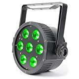 Beamz FlatPar schwarz–Disco-Zubehör (schwarz, LED, 7Lampe (S), 18W, Bernstein, Blau, Grün, Rot, UV (UV), weiß, 10Kanäle)