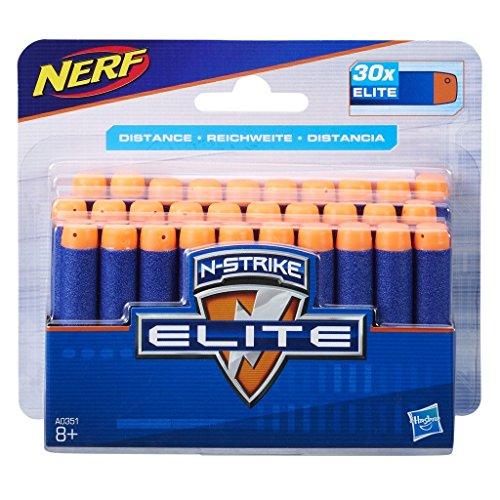 Nerf-A0351 Ner Elite Pack, 30 Dardos, Color Azul, Rojo (Hasbro A0351EU4)