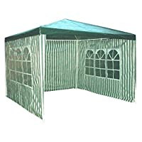 Redstone Outdoors 4 Sides Gazebo 3 x 3 Metre 2 Sides with Windows Garden Marquee 7