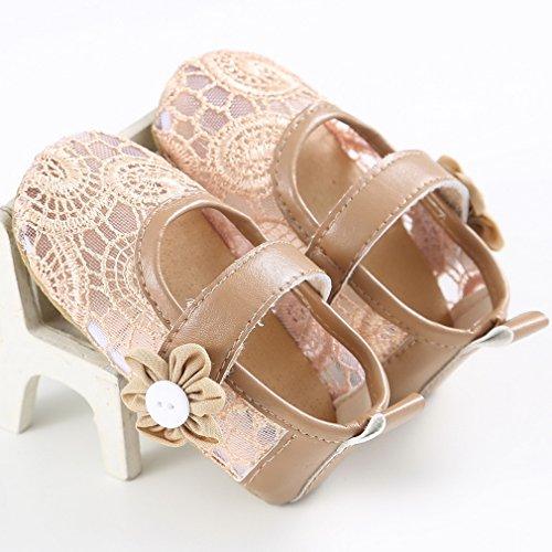 EOZY Babyschuhe Baby Kleinkind Schuhe Lace Blumen Prinzesin Schuhe Gold