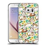 Offizielle Micklyn Le Feuvre Meerschweinchen Und Gänseblümchen Und Aquarell Rosa Muster 2 Soft Gel Hülle für Samsung Galaxy S7