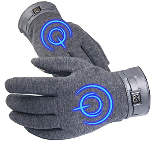 Bromeo Fate Zero Fate stay Night Anime Hiver Chaud Lumineux Écran Tactile Gants Gloves Mittens Gris 5