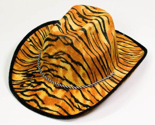 1 x Cowboyhut Hut Westernhut Kostüm Fasching Tiger Design