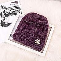 Mitlfuny Black Friay DE Cyber Monday DE,Ältere Damenmode halten warme Wintermützen gestrickte Handhaken-Blumen-Hut