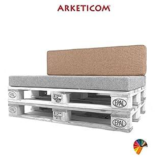 Arketicom PALLET BACK CUSHION Customizable Polyurethane Furniture Foam Italian Handmade 120x30x15 cm Rope
