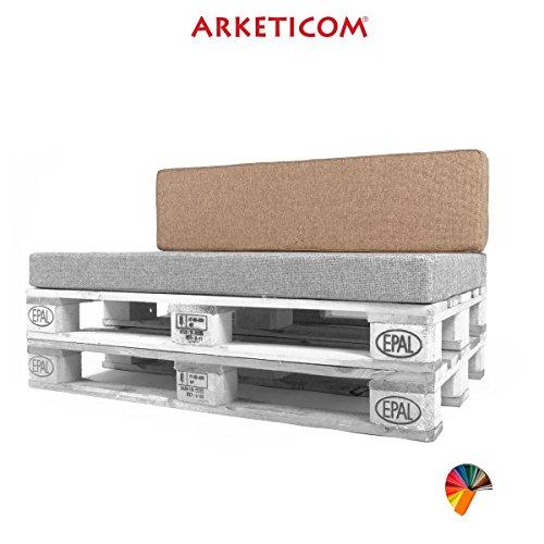 Arketicom Pallett-One Coussin pour dossier de canapé Différentes tailles et couleurs pour intérieur/extérieur Fabriqué en Italie 80x30x15 Canapa