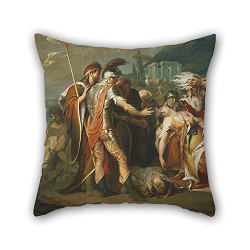 Beautifulseason Pillowcase/Kissenbezüge Of Oil Painting James Barry - King Lear Weeping Over The Dead Body Of Cordelia,for Drawing Room,her,kids Girls,boy Friend,birthday 18 X 18 Inches / 45 By 45 Cm(each Side)