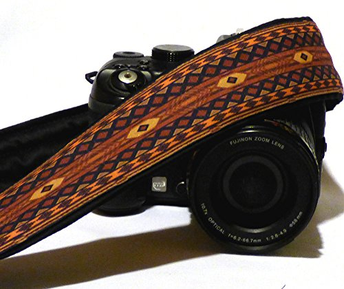nativi-americani-camera-strap-inspired-etnica-camera-strap-southwestern-dslr-camera-strap-marrone-ca