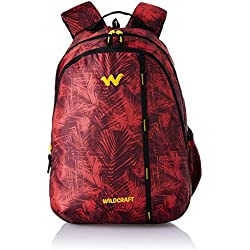 Wildcraft Polyester 35 Ltrs Red School Backpack (WC 1 Foliage 1)