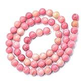 6mm Argentina Rodocrosite Naturale Della Pietra Preziosa Perline Rotondo Sciolto Da 15 Pollici