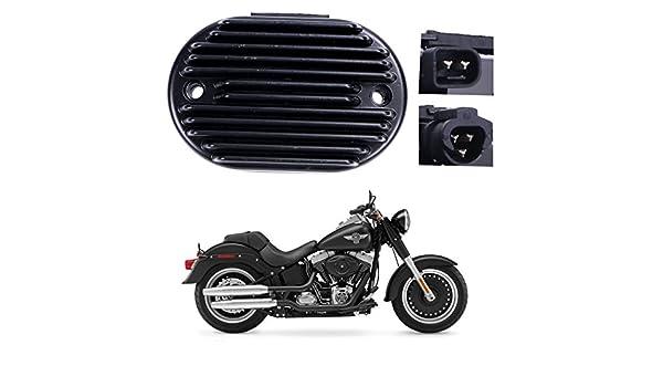 R/égulateur redresseur moto noir de haute qualit/é pour Harley-Davidson FLST JE HERITAGE SOFTAIL 2008-2010