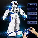Vjoy® Ferngesteuerte Roboter für Kinder Walking & Sliding Steuerung RC Roboter Infrarot-Steuerung Spielzeug mit LED-Licht, Singen und Tanzen, Moonwalking und Gestenerkennung