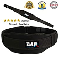 RAD Gym Weight Lifting Neoprene Double Belt Back Lumbar Support Fitness Exercise Bodybuilding Small