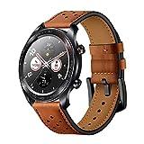 Aisports Bracelet de rechange pour montre Huawei GT/Honor Watch Magic/Samsung Galaxy Watch 45mm/Gear S3/Ticwatch Pro en cuir 22...