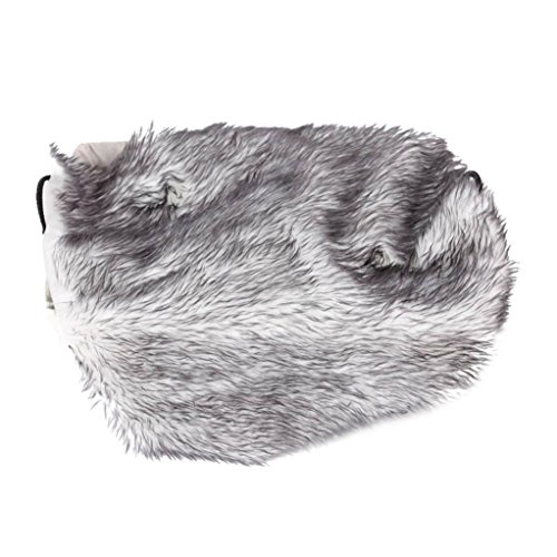 Hunpta Decke, weich, ideal für die Baby-Fotografie, als Requisite oder Hintergrund, Kunstfell, grau, Neugeborene