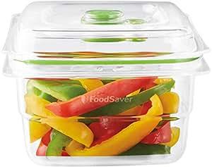 FoodSaver Contenitore Salva Freschezza per Sottovuoto da 1.2 Litri, BPA Free, Indicatore del Vuoto, Trasparente