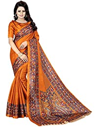 c556b6aa04eebf Mahadev Enterpris Bhagalpuri Silk Saree With Blouse Piece (Mustard Free  Size)