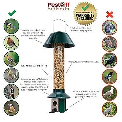 Squirrel Proof Wild Bird Feeder - Roamwild PestOff (Mixed Seed / Sunflower Heart Feeder) 7