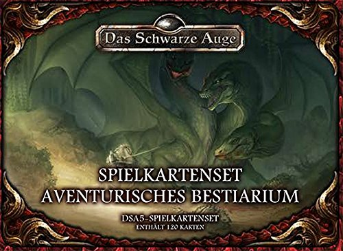 Preisvergleich Produktbild DSA5 Spielkartenset Aventurisches Bestiarium (Das Schwarze Auge: Regelwerke)