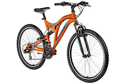 26'' Hillside Mountainbike Power 3.0 Fahrrad MTB 21 Gang Shimano Tourney Schaltung, Fully, Federung vorn und hinten