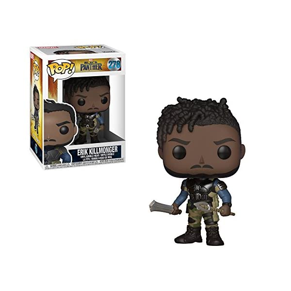 Funko Pop Erik Killmonger (Black Panther – Marvel 278) Funko Pop Black Panther