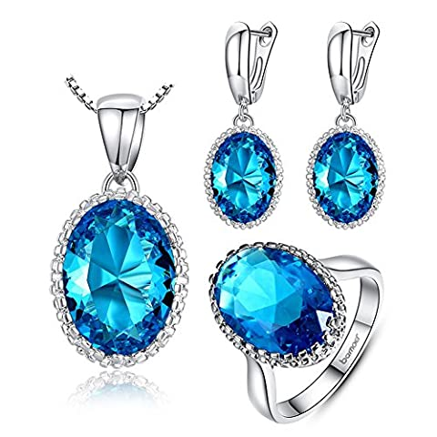 SaySure01 - Jewelry Sets amp more for Women AAAA Blue Zircon