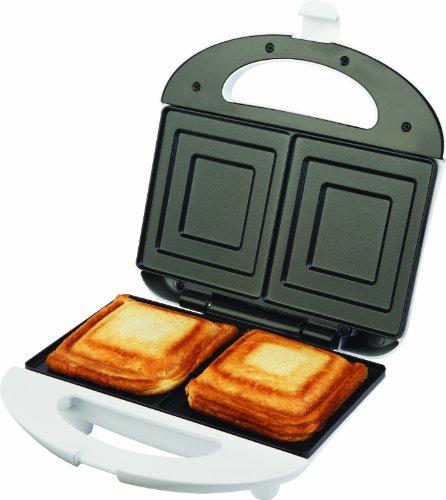ECG S 169 2 Sandwiches, 700 W, Antihaft-Platten, Betriebs- und Bereitschaftsanzeige, edelstahl-Behandlung