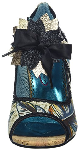 Poetic Licence by Irregular Choice Damen Judy Juniper Peeptoe Pumps Black (Black (Black Multi))