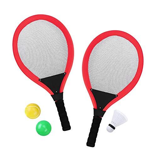 Delidraw Kinder Tennisschläger Set mit Shuttlecock Plus 2 Balls Kind Badminton Sport Spiel