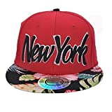 Die besten City Hunter City Hunter Baseball-Caps - City Hunter New York Rot Blumenmuster Snapback Kappe Bewertungen