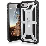 Urban Armor Gear Premium Monarch Schutzhülle nach US-Militärstandard für Apple iPhone 8 / 7 / 6S / 6 - Platinum [Verstärkte Ecken | Sturzfest | Leder | Strukturierter Rahmen   Vergrößerte Tasten] - IPH8/7-M-PL
