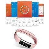 Fitness armband Smarter YG3 Activity Tracker Armband Schrittzähler Kabellose Bluetooth 4.0 Schritte Entfernung Sleep Kalorien ausgeschnittenem Touch Bildschirm Call Nachricht Reminder für Android und IOS (Rosa) - 8