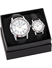 Timewear Analog Silver Dial Couple Watch - 902SDTCOUPLE