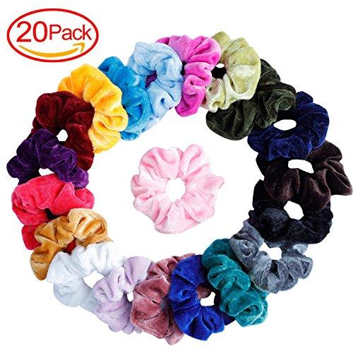 20Pcs elastici per capelli elastici per capelli elastici Fermacoda Ropes Scrunchie Scrunchy Velvet per donne o ragazze accessori per capelli?20colori assortiti
