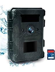 Bestok Caméra de Chasse 12MP HD Infrarouge 65ft Vision Nocturne Animaux Caméra de Surveillance 940nm IR LEDs Basse Luminosité 120°Grand Angle Imperméable IP65