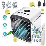 Nifogo Air Mini Cooler Aire Acondicionado Portátil, 3-en-1 Climatizador Evaporativo Frio Ventilador Humidificador Purificador de Aire,Leakproof, Nuevo Filtros (New)