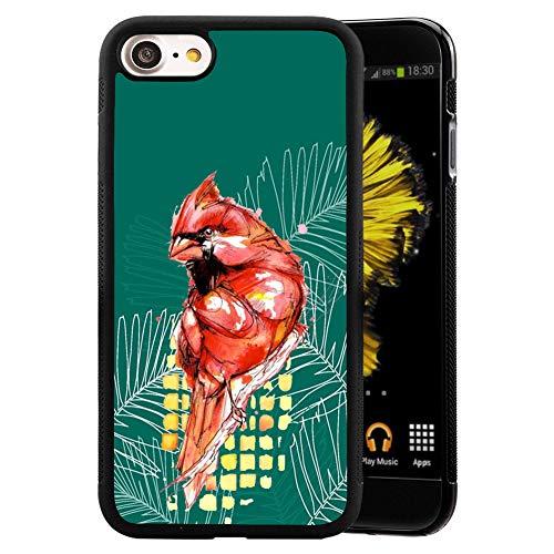 Adeline Zebra - Custodia per iPhone 7 e 8, antiurto, in morbido poliuretano termoplastico, design personalizzato per iPhone 7 8, colore: Nero iPhone 7 8 Parrot
