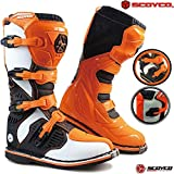 Stivali Motocross da Uomo SCOYCO MX Enduro off-Road Quad Cross ATV Scooter Crash Kart Racing Lunghi...