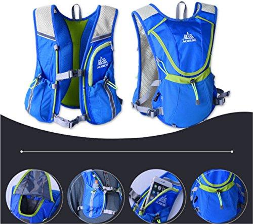 Imagen de aonijie hombres y mujeres marathon ciclismo  ligera para correr + 1.5l hidratación bolsa de agua, azul alternativa
